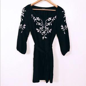 Nanette Lapore Embroidered Black and White Dress
